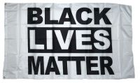 Fahne / Flagge Black Lives Matter weiß 90 x 150 cm