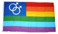 Fahne / Flagge Regenbogen Gay 90 x 150 cm