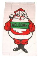 Fahne / Flagge Frohe Weihnachten Welcome 90 x 150 cm