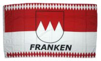 Flagge / Fahne Franken Schrift weiß Hissflagge 90 x 150 cm