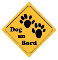 Aufkleber Sticker Achtung Dog an Bord Autoaufkleber