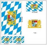 Fahnen Aufkleber Set Freistaat Bayern Löwen
