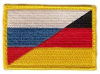 Fahnen Aufnäher Deutschland / Russland