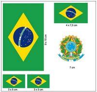 Fahnen Aufkleber Set Brasilien