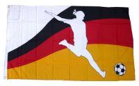 Fahne / Flagge Deutschland Frauen Fußball 90 x 150 cm