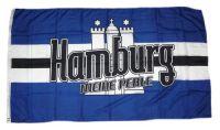 Fahne / Flagge Meine Perle Hamburg 90 x 150 cm