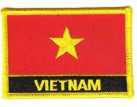 Fahnen Aufnäher Vietnam Schrift