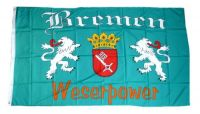 Fahne / Flagge Bremen - Weserpower 90 x 150 cm