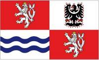 Fahne / Flagge Tschechien - Mittelböhmen 90 x 150 cm
