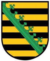 Wappenschild Aufkleber Sticker Sachsen
