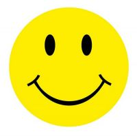 Aufkleber Sticker Smile rund