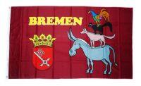 Fahne / Flagge Bremer Stadtmusikanten 90 x 150 cm