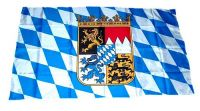 Fahne / Flagge Freistaat Bayern Wappen 30 x 45 cm