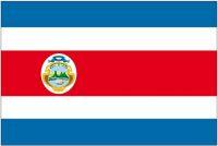 Fahnen Aufkleber Sticker Costa Rica