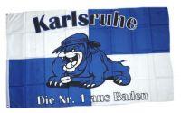 Fahne / Flagge Karlsruhe Bulldogge 90 x 150 cm