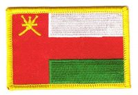Fahnen Aufnäher Oman