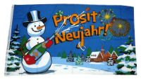Fahne / Flagge Prosit Neujahr Silvester 60 x 90 cm