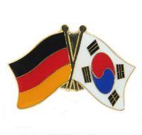 Fahnen Freundschaftspin Anstecker Südkorea