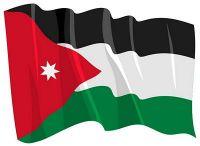 Fahnen Aufkleber Sticker Jordanien wehend