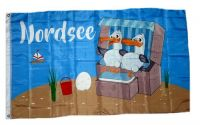 Fahne / Flagge Nordsee Möwen 90 x 150 cm