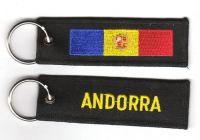 Fahnen Schlüsselanhänger Andorra