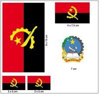 Fahnen Aufkleber Set Angola