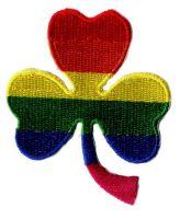 Aufnäher Patch Kleeblatt Regenbogen