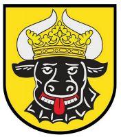 Wappenschild Aufkleber Sticker Mecklenburg Ochsenkopf