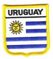 Wappen Aufnäher Fahne Uruguay