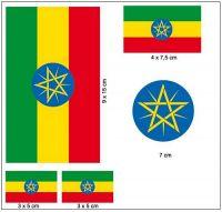 Fahnen Aufkleber Set Äthiopien