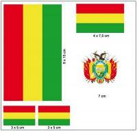 Fahnen Aufkleber Set Bolivien