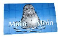 Fahne / Flagge Moin Moin Seehund 30 x 45 cm