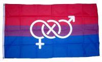 Fahne / Flagge Bi Pride Symbol 90 x 150 cm