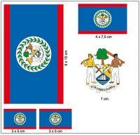Fahnen Aufkleber Set Belize