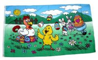 Fahne / Flagge Frohe Ostern Henne 90 x 150 cm