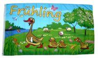Fahne / Flagge Frühling Enten 60 x 90 cm