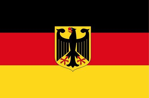 Fahnen Aufkleber Sticker Deutschland Adler