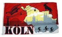 Fahne / Flagge Köln Silhouette 90 x 150 cm