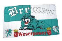 Fahne / Flagge Bremen Bulldogge 90 x 150 cm