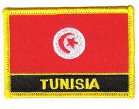 Fahnen Aufnäher Tunesien Schrift