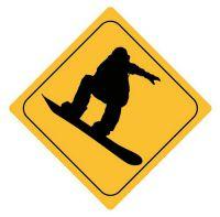 Aufkleber Sticker Achtung Snowboarder Autoaufkleber