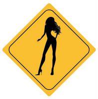 Aufkleber Sticker Achtung Frau Girl Lady Autoaufkleber