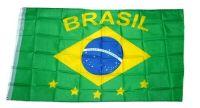 Fahne / Flagge Brasilien Schrift NEU 90 x 150 cm