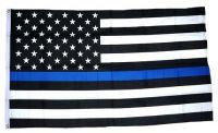 Fahne / Flagge USA schwarz 90 x 150 cm