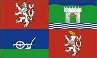 Fahne / Flagge Tschechien - Aussig 90 x 150 cm