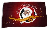 Fahne / Flagge Frohe Weihnachten rot 150 x 250 cm