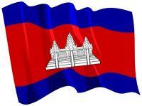 Fahnen Aufkleber Sticker Kambodscha wehend