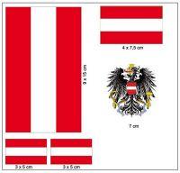 Fahnen Aufkleber Set Österreich