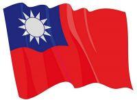 Fahnen Aufkleber Sticker Taiwan wehend