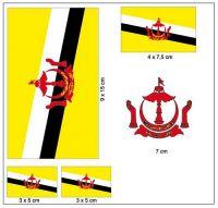 Fahnen Aufkleber Set Brunei